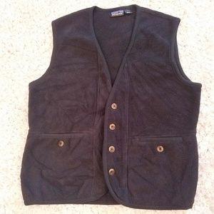 Patagonia Synchilla button pocket fleece vest